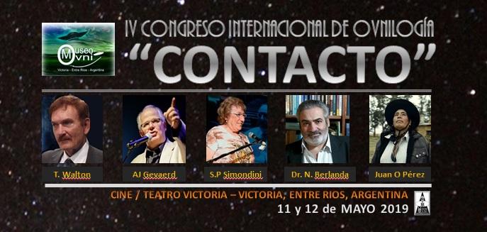 """IV CONGRESO INTERNACIONAL DE OVNILOGIA, VICTORIA, ENTRE RIOS. """"CONTACTO"""""""